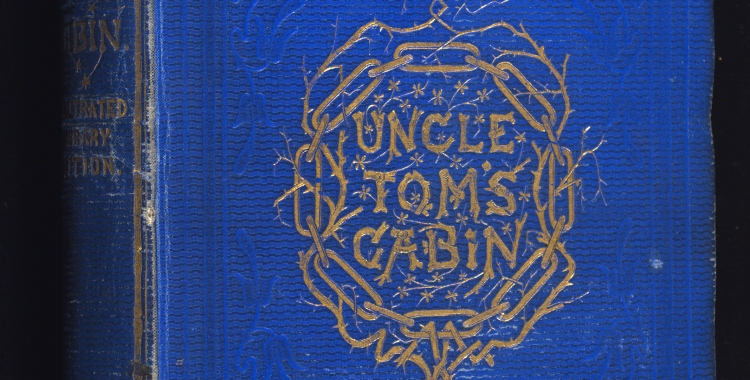 Photograph of binding of Uncle Tom's Cabin E395
