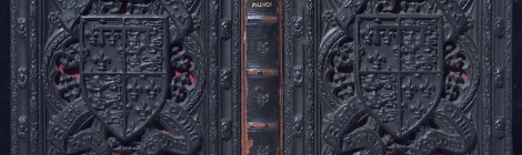 Photograph of binding of A record of the Black Prince E401b