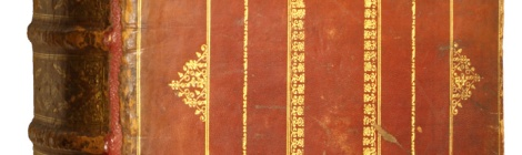 Photograph of binding of Plantin Bible B118