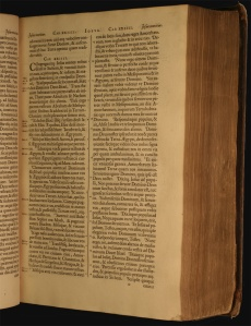 Photograph of pages from the Plantin bible.
