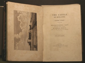 Photo of Walpole's The Castle of Otranto, title pages