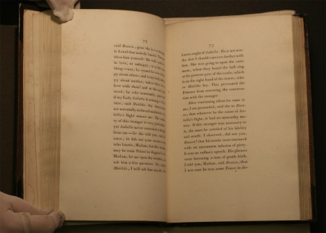 Photograph of Walpole's Castle of Otranto, two pages